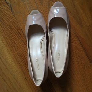 Wedge shoes. Neutral blush pink. Goes w everything