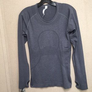 Tops - Lululemon-Logo Long Sleeves Top With Thumb Holes