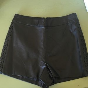 Topshop Shorts - Final $✨NWT Topshop Faux Leather Whipstitch Short