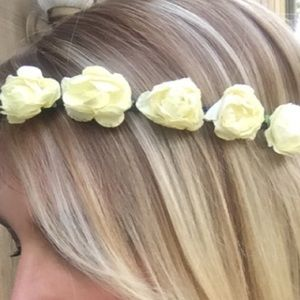 WINDSOR Accessories - Flower Child White Rose Headband