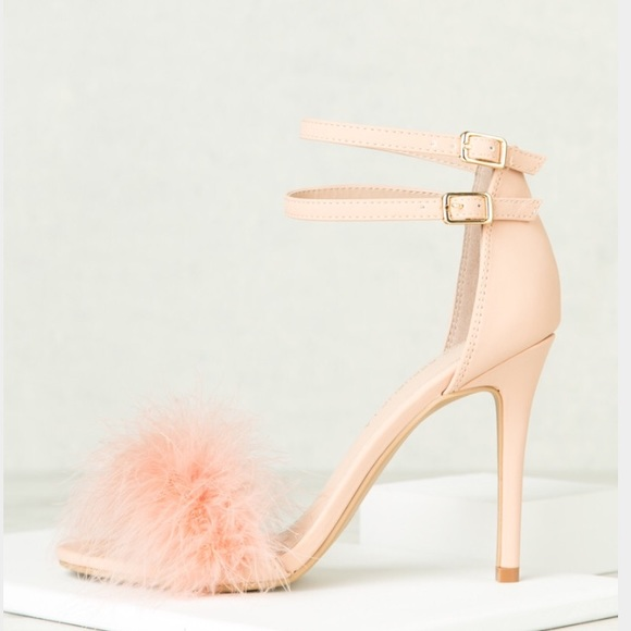Topshop - Pink Fur Heels from Latoya's closet on Poshmark