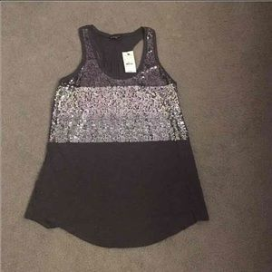 Express women's tank top sequins small
