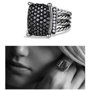 Authentic David Yurman Wheaton Black Diamond  Ring