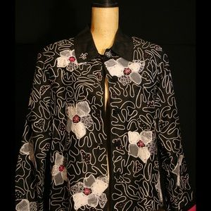 Anage Jackets & Blazers - Embroidered and beaded silk-made jacket