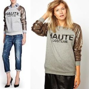 Mango Sweaters - Haute Costume Sequin Sweatshirt✨