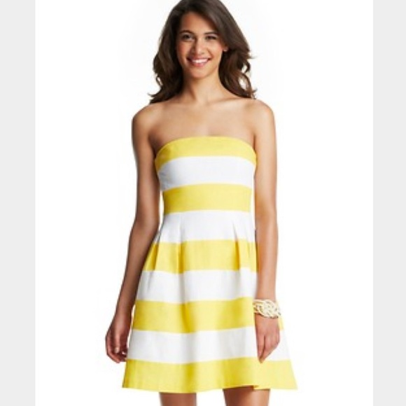 25d5a08480 LOFT Dresses   Skirts - Final Price LOFT Yellow   White Strapless Dress