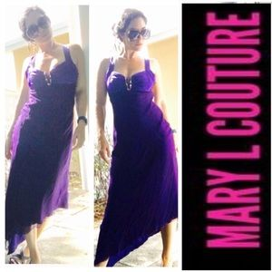 Gorgeous purple gown by Mary L - small