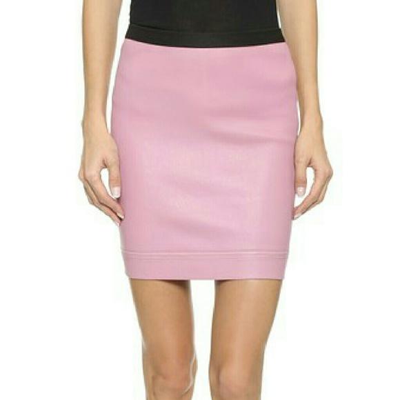 8fcc5e857 Helmut Lang Dresses & Skirts - NEW HELMUT LANG PINK LEATHER MINISKIRT ...