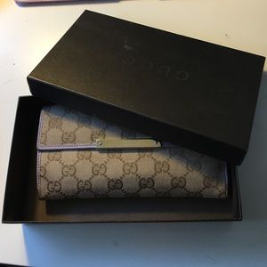 authentic gucci wallet used