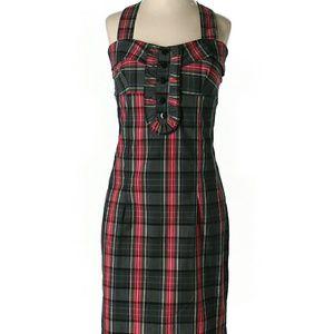 NwOt LF TFNC Black & Red Plaid Dress