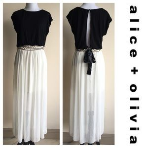 Alice + Olivia Dresses & Skirts - 1 Day Sale! Alicia & Olivia Chiffon Key Hole Dress