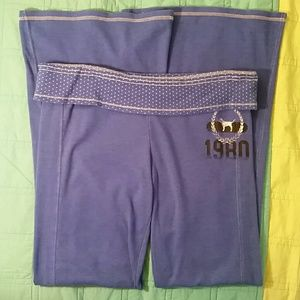 PINK Victoria's Secret Pants - Victoria's Secret PINK Blue 1980 Flare Sweatpants