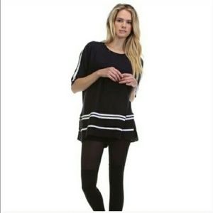 Tea n Cup Tops - Black Striped Knit Top