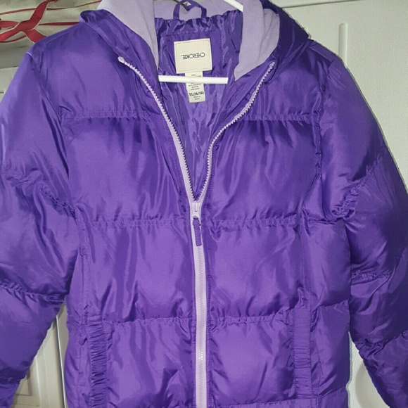 bright in luster latest style wholesale outlet Girls purple puffer coat