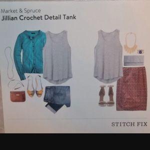 Knitting Extra Stitch Fix : 58% off Market & Spruce Tops - Market & Spruce Striped Dolman Top S f...
