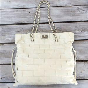 White Chanel Lambskin Bag