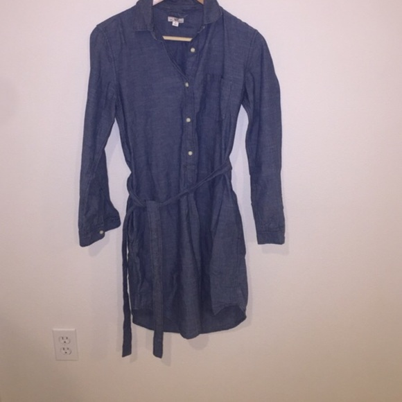 60 Off Gap Dresses Skirts Gap Chambray Shirt Dress