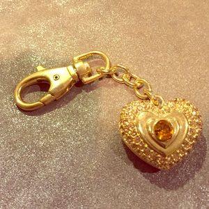 Accessories - Rhinestone heart keychain