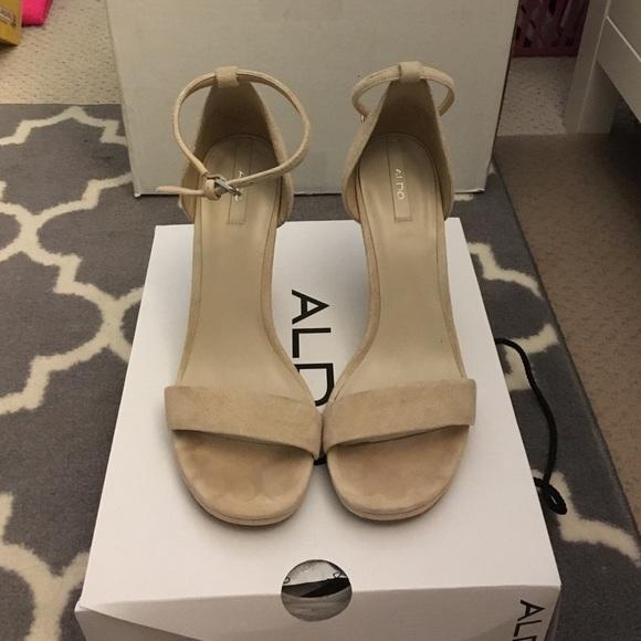 f55f6d444e8 Aldo Shoes - Aldo ELLEY Wedge Sandal Heel - Nude Suede
