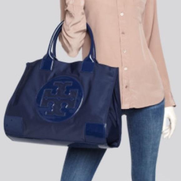 68d772a21ea Tory Burch Large Ella Nylon Tote Bag Blue. M 57d0a819d14d7b95b7010cfd