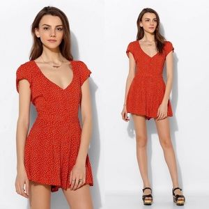 Valentin Button-Front Romper by Kimchi Blue