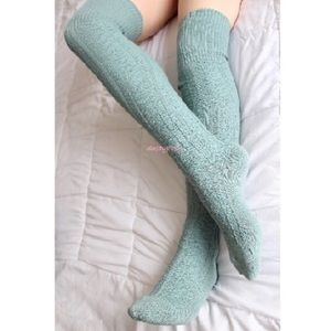 HUE Accessories - Long Knit Over The Knee Thigh High Socks Fall OTK