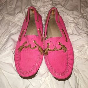 SPERRY hot pink shoes!!!