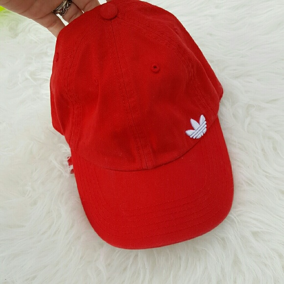 f5d04a782d97a Adidas Accessories - Adidas Red Adjustable Dad Hat