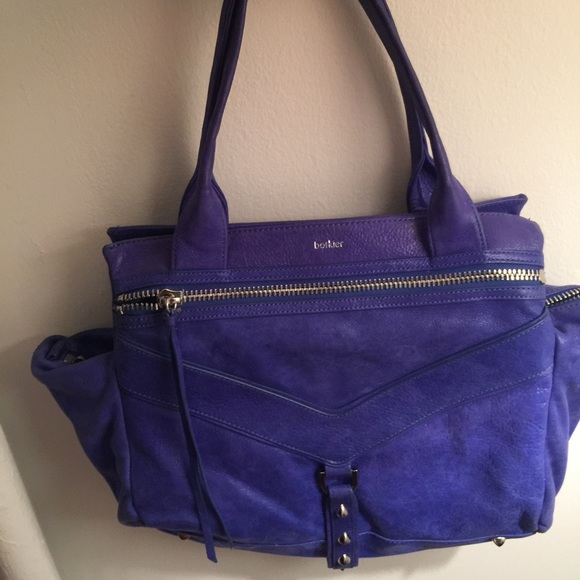 77% off Botkier Handbags - Botkier Royal Blue Suede Handbag from ...