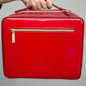 Estee Lauder Handbags - Red High Gloss Travel Makeup Bag NEW Stylish Cute