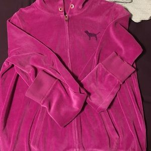 Pink Victorias Secret Sweaters Victoria Secret Pink Fuzzy Jacket