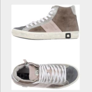 D.A.T.E. Suede High Top Sneakers