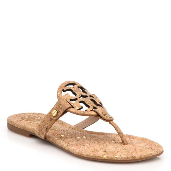2d4f0321f NEW Tory Burch Natural Cork Miller Sandals!