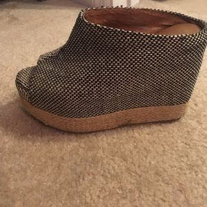 Jeffrey Campbell mule wedges