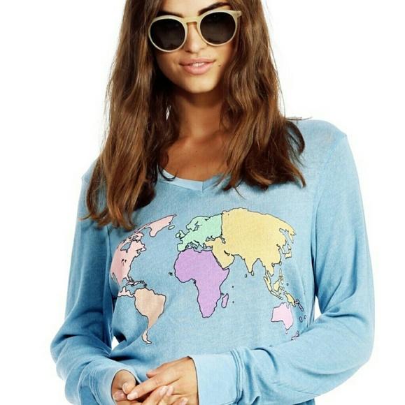 Wildfox Sweaters World Map Sweater Xs Poshmark