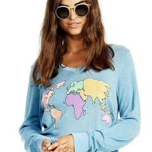 World Map Sweater.Wildfox Sweaters World Map Sweater Xs Poshmark