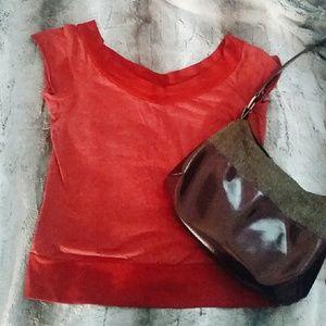 Red cap sleeve tee