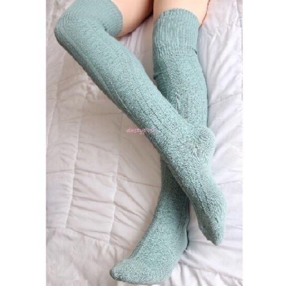 7f648d553fdcd Dustyposh Accessories | Cable Knit Thigh High Over The Knee Socks ...