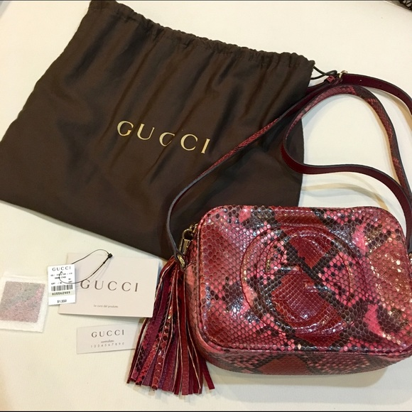 4f22be111ac Gucci Handbags -  Trade  Gucci Soho Python Disco Bag