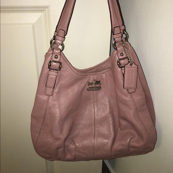 59 off coach handbags coach light pink madison maggie. Black Bedroom Furniture Sets. Home Design Ideas