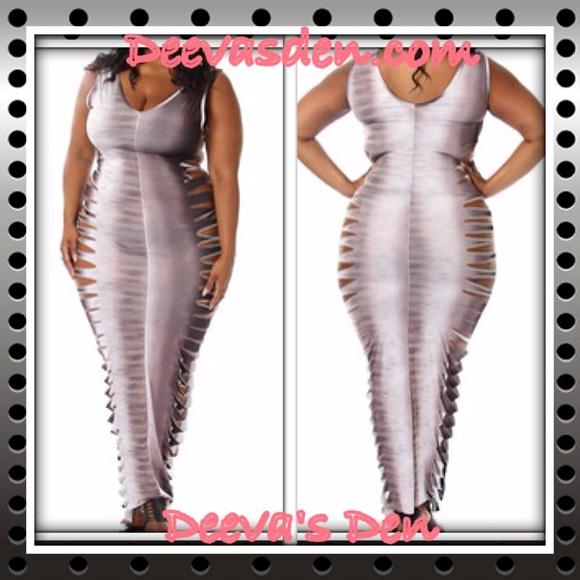 Razor Cut Maxi Dress