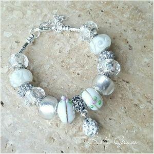 Salty Grace  Jewelry - Classy white charm bracelet