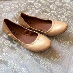 Lucky Brand Champagne Ballerina Flats