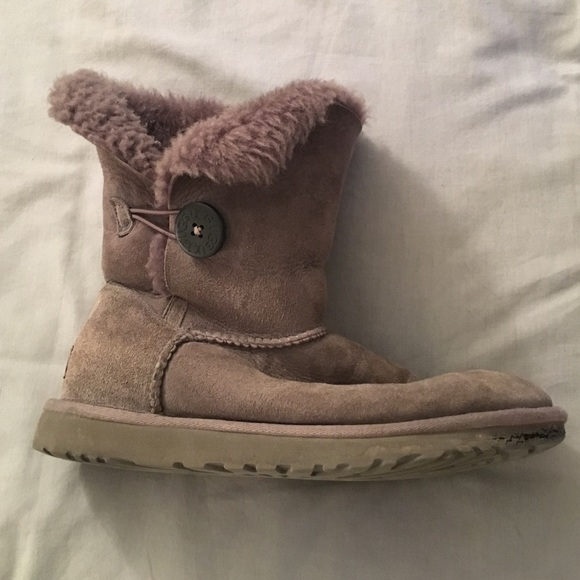 gray uggs with buttons on sale