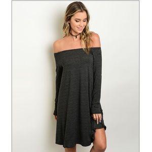 Fresh Fashion Boutique Dresses & Skirts - Off Shoulder Jersey Dress