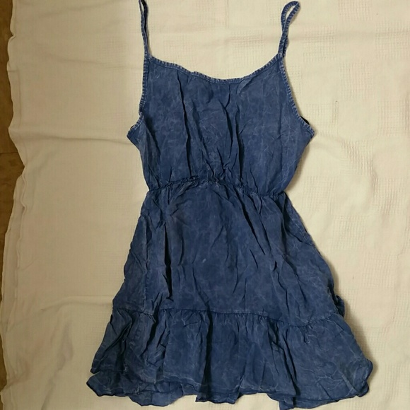 335a438ec4d08 Forever 21 Dresses & Skirts - Forever 21 cute denim blue jean flowy dress  small