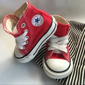 Converse Shoes   Baby Red Converse High