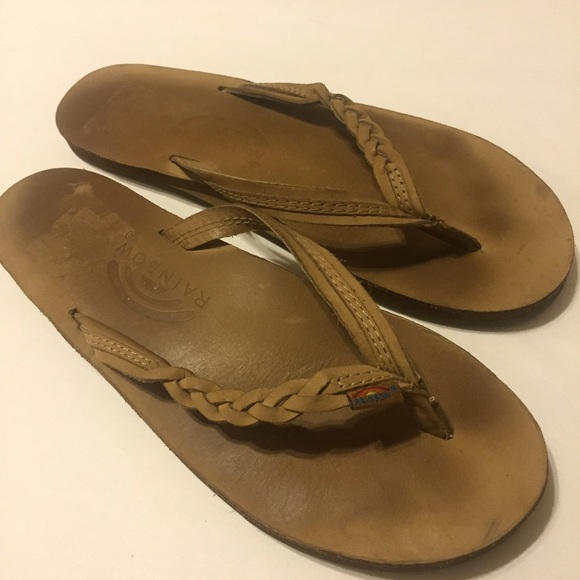 2064a2cad02f ... Braided Leather Flip Flop size M. M 57d0efd36a58303e4303b318
