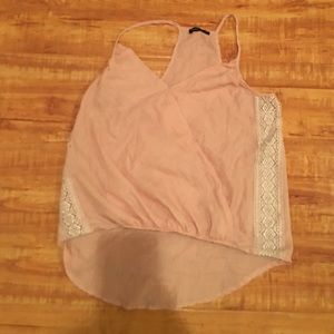 Baby pink & lace blouse