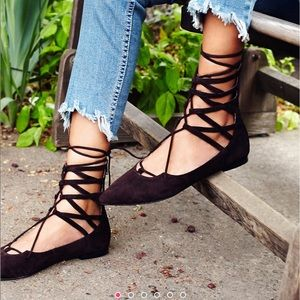 Free People Shay Lace Up Flats